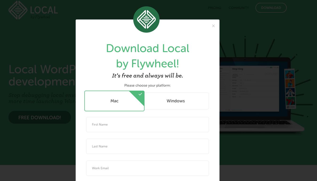 Local by Flywheelをダウンロード