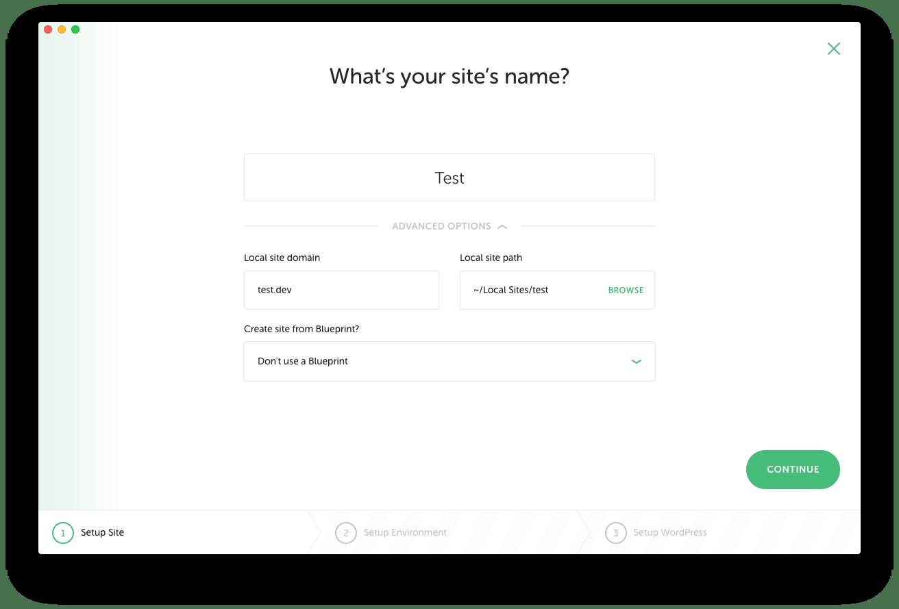 サイト名登録 詳細設定