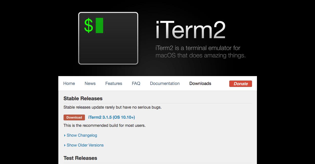 iTerm2 ダウンロード