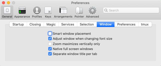 [General]→[Window]