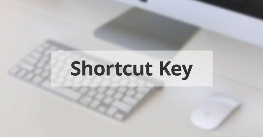 ショートカットキーの設定時に使える英単語
