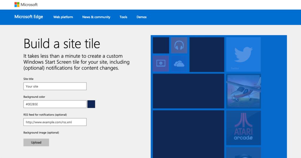 Build a site tile