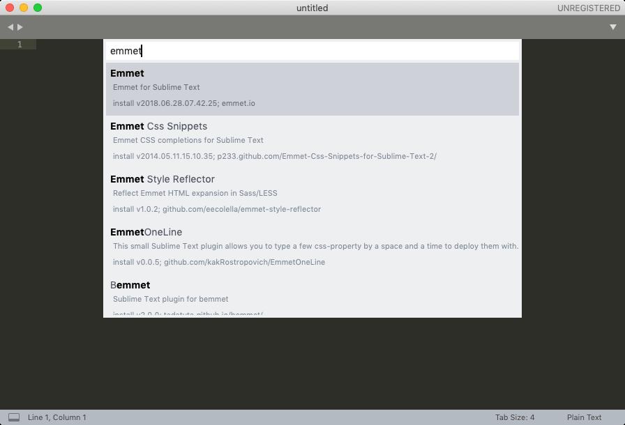 Sublime TextでEmmetを使う