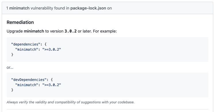 package-lock.jsonでの警告