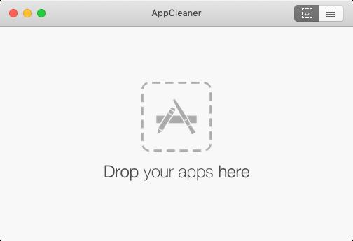 AppCleanerの起動画面
