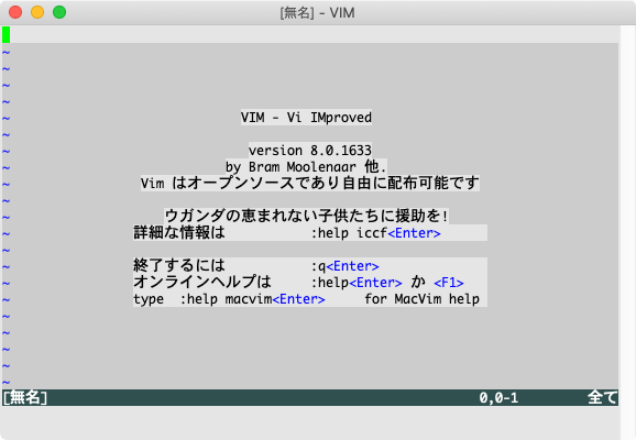 MacVim画面
