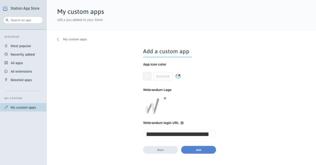 custom appのアイコン設定