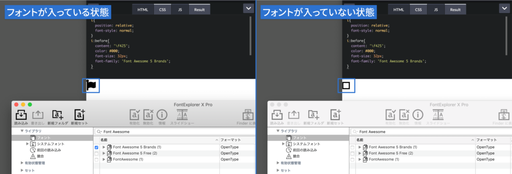 Font Awesomeの表示確認