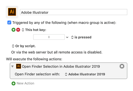 Open the Finder Selection