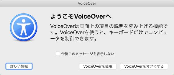 VoiceOver初回設定時