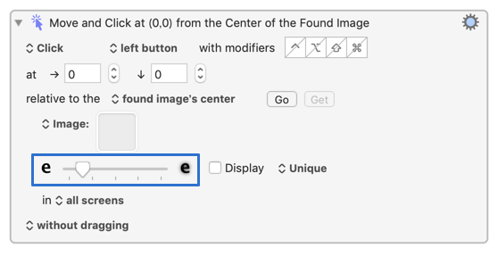 Click at Found Imageの画像一致度調節バー