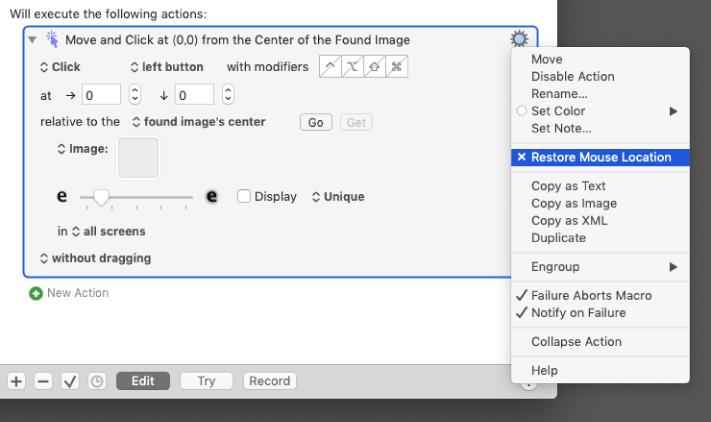 Click at Found Imageのクリック後にカーソルを元の位置に戻す