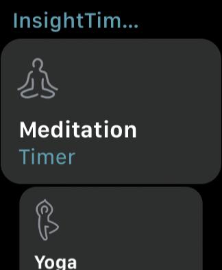 「Meditation」の選択