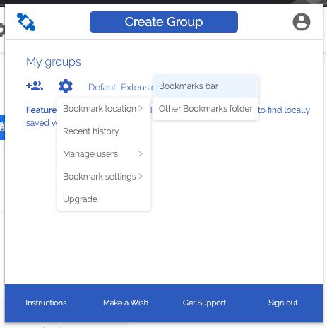 TeamSync Bookmarksのブックマーク追加