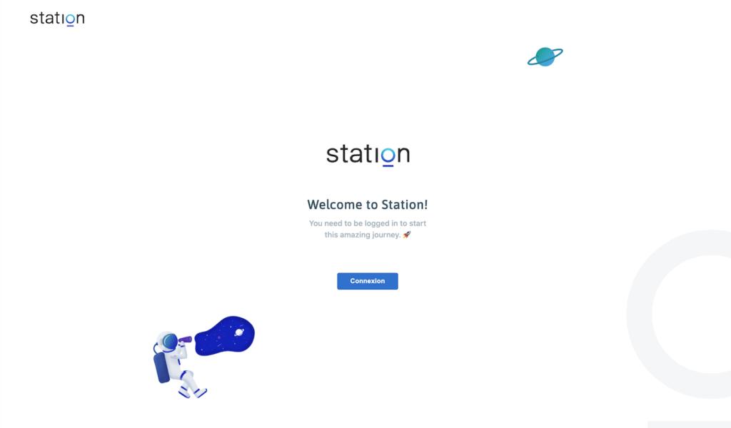 Stationのログインページ