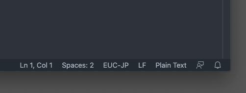 Visual Studio Codeの文字コード設定