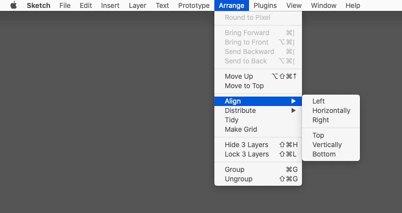 [Arrange]→[Align]