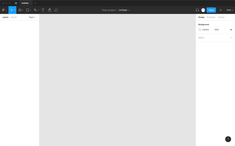 Figmaのデザイン編集画面